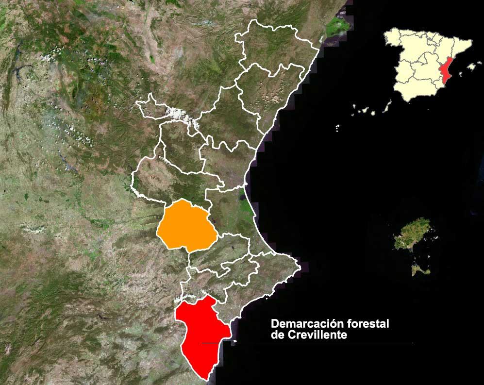 Demarcación forestal Crevillente